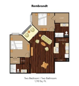 Conservatory At Keller Town Center Rembrandt Suite Floor Plan