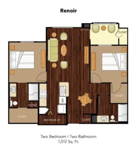 Conservatory At Keller Town Center Renoir Suite Floor Plan