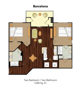 Conservatory At Plano Barcelona Suite Floor Plan