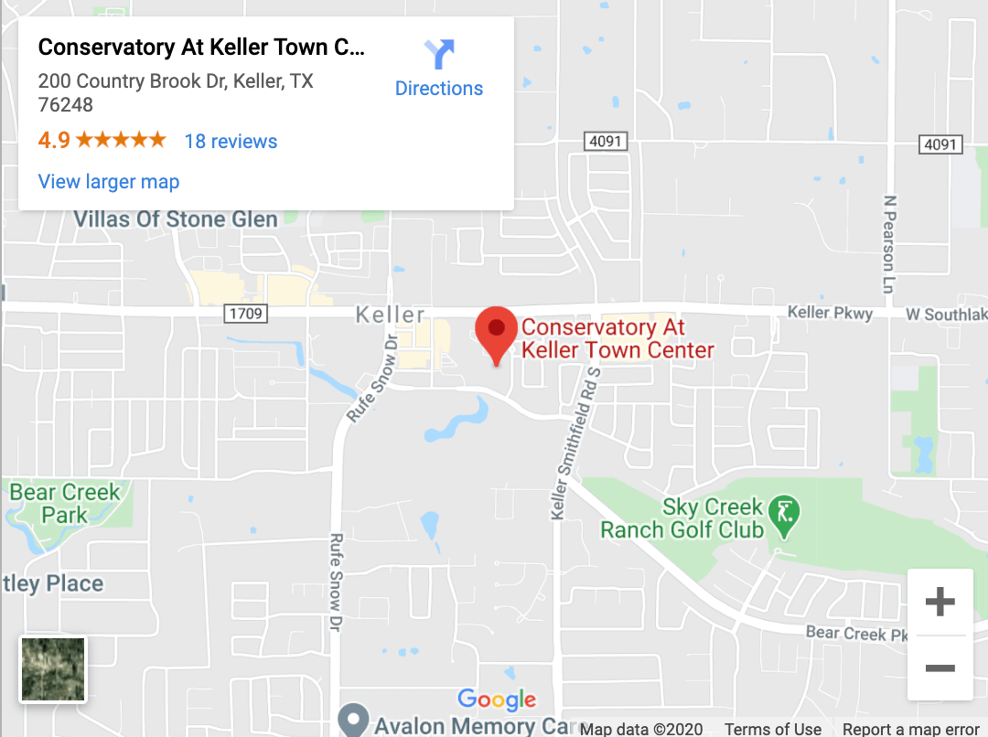 Conservatory At Keller Town Center Map