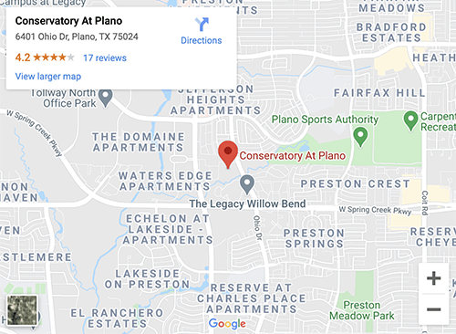 Conservatory At Plano Map